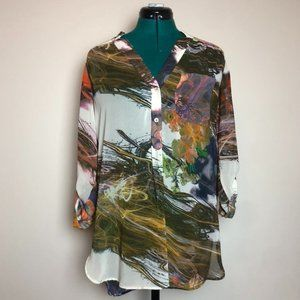 Tristan Abstract Blouse - Size Small